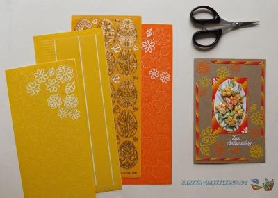 Sticker gelb & orange