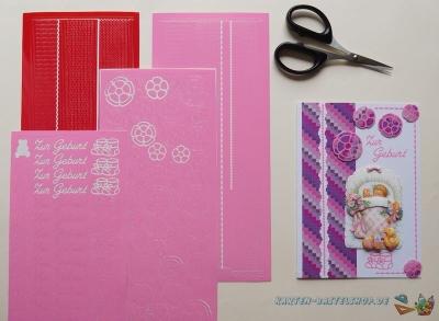 Sticker rot & rosa