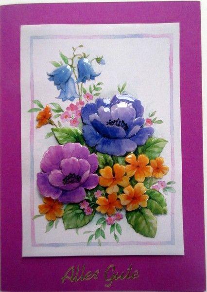 Violette Geburtstagskarte Alles Gute