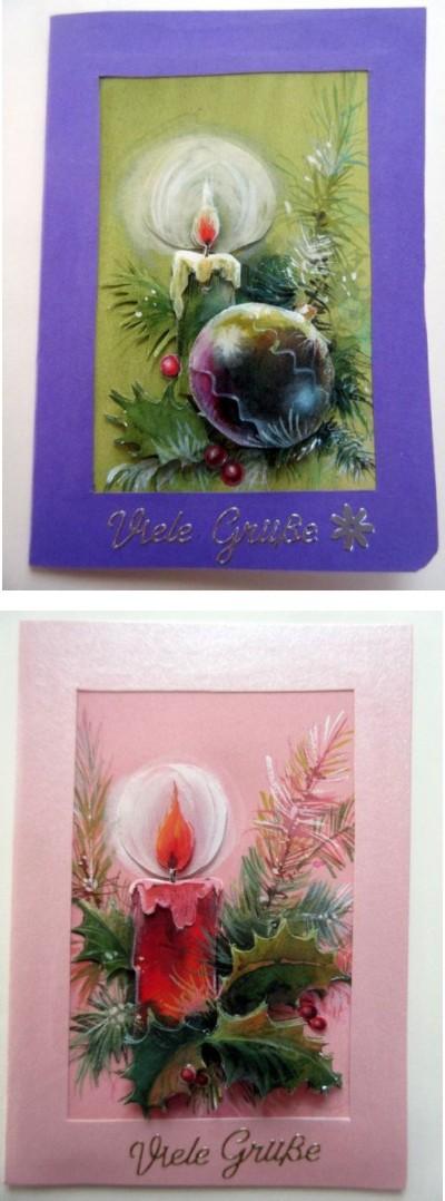 2 weihnachtliche Karten für viele Anlässe