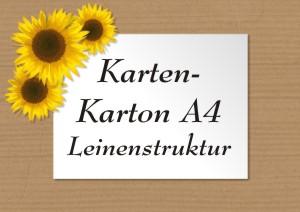 Galerie - Karten-Karton A4 mit Leinenstruktur