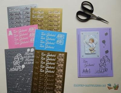 Sticker Baby, Geburt & Taufe