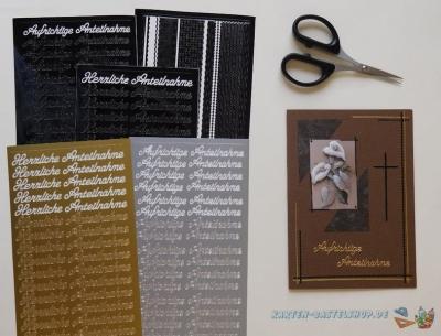 Sticker Trauer & Kondolenz