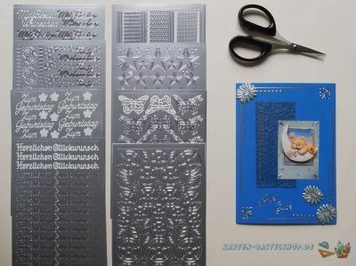 Sticker silber