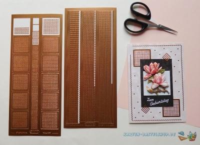 Sticker bronze & kupfer