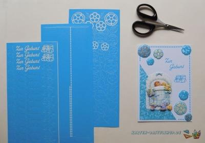 Sticker blau