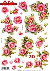 3D-Stanzbogen Rosa Rosen von LeSuh (680.001)