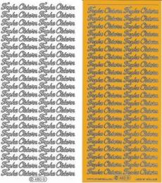 Sticker - Frohe Ostern - gelb-gold - 480