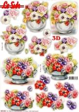 3D-Stanzbogen Vase mit Blumen von LeSuh (680.082)