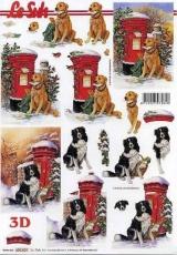 3D-Bogen Hund am Briefkasten von LeSuh (650.001)