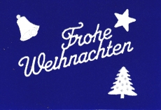 Sticker - Frohe Weihnachten - weiß - 450