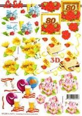 3D-Bogen 80 Jahre klein von LeSuh (777.275)