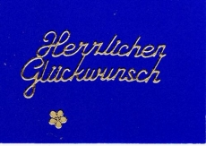 Sticker - Herzlichen Glückwunsch 2 - gold - 400