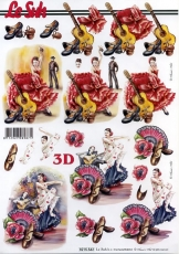 3D-Bogen Flamencotänzerin von Nouvelle (8215542)