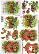 3D-Bogen Hund & Kätzchen von LeSuh (4169623)