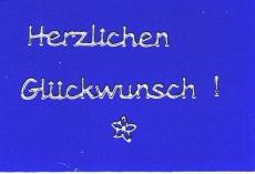 Sticker - Herzlichen Glückwunsch - silber - 4403