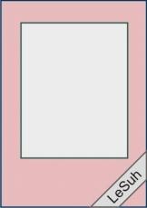 Passepartoutkarten-Set A6  altrosa-rechteckig von LeSuh (411338) ***AUSVERKAUF***