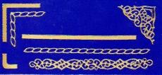Sticker - Rand & Ecken 6 - gold - 806
