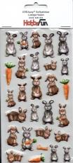 Softy-Sticker-Lustige Hasen von HobbyFun (3451210)