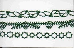 Sticker - Weihnachtliche Ränder - dunkelgrün - 874