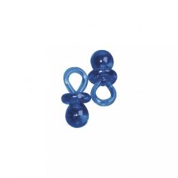 12x Kunstoffanhänger Schnuller blau - 2 cm