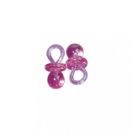 10x Kunstoffanhänger Schnuller rosa - 3 cm