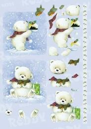 Stanzbogen Kleiner Eisbär von Reddy