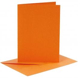 Doppelkarten-Set - orange - 6 Karten A6 & 6 Umschläge C6 (Card Making)