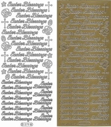 Sticker - Easter Blessings - gold - 379