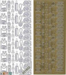 Sticker - Baby - gold - 116