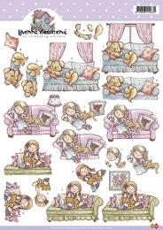 3D-Bogen - Mädchen auf der Couch - Yvonne Creations