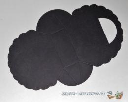 Falttäschchen / Geschenktasche - schwarz
