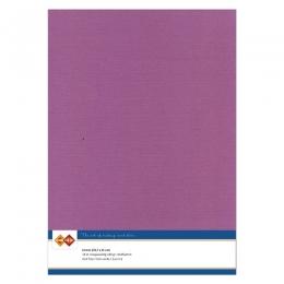 Karten-Karton mit Leinenstruktur A4 - eggplant