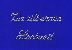 Sticker - Zur silbernen Hochzeit - silber - 434