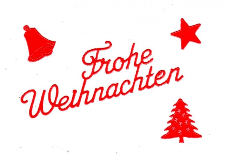 Frohe Weihnachten Schrift.Sticker Frohe Weihnachten Rot 450