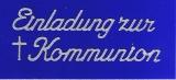 Sticker - Einladung zur Kommunion - silber - 497