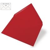 5 Umschläge C6 kardinalrot