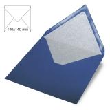 5x Umschläge quadratisch royalblau