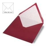 5x Umschläge quadratisch bordeaux (Rayher)