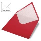5x Umschläge quadratisch kardinalrot (Rayher)
