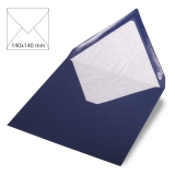 5x Umschläge quadratisch nachtblau