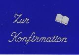 Sticker - Zur Konfirmation - silber - 414