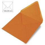 5x Umschläge quadratisch mandarine (Rayher)