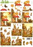 3D-Stanzbogen Tiere im Herbst von LeSuh (680.016)