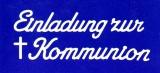 Sticker - Einladung zur Kommunion - weiß - 497