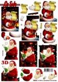 3D-Stanzbogen  Weihnachtsmannvon LeSuh (680.027)