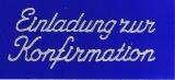 Sticker - Einladung zur Konfirmation - silber - 498