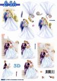 3D-Stanzbogen Hochzeit von LeSuh (680.017)