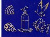 Sticker - Maritim - gold - 819