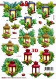 3D-Stanzbogen Weihnachtsmotive von LeSuh (680.019)